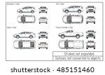 car sedan and suv drawing... | Shutterstock .eps vector #485151460