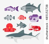 vector of fish | Shutterstock .eps vector #485152738