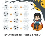 counting game for preschool... | Shutterstock .eps vector #485157550