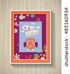 poster. baby invitation shower...   Shutterstock .eps vector #485160934