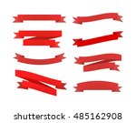 set of red different retro... | Shutterstock .eps vector #485162908