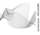 abstract curved lines. vector... | Shutterstock .eps vector #485163388