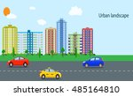 modern city view. | Shutterstock . vector #485164810