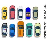 cars top view  | Shutterstock . vector #485165083