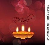 vector illustration of diwali... | Shutterstock .eps vector #485165488