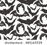halloween seamless pattern with ...   Shutterstock .eps vector #485165539