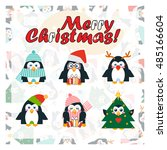 vector template for card  paper ... | Shutterstock .eps vector #485166604
