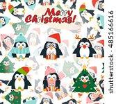 vector cartoon greeting card....   Shutterstock .eps vector #485166616