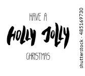 decorative xmas lettering.... | Shutterstock .eps vector #485169730