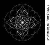 sacred geometry. vector symbol...   Shutterstock .eps vector #485173378