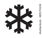 black and white snow or ice sign   Shutterstock .eps vector #485174134