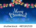 merry christmas bokeh... | Shutterstock .eps vector #485181520