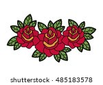 flower and leaves icon. nature... | Shutterstock .eps vector #485183578