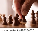 soft focus chess pieces of the...