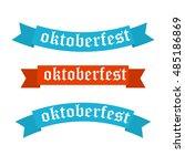 oktoberfest banners in bavarian ... | Shutterstock . vector #485186869
