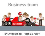 business team working at the... | Shutterstock .eps vector #485187094