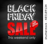black friday sale .vector...   Shutterstock .eps vector #485189134