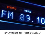 fm tuner radio display. stereo... | Shutterstock . vector #485196010