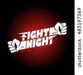 fight night mma  wrestling ... | Shutterstock .eps vector #485197369