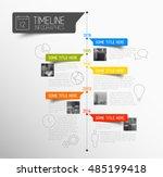 vector infographic timeline... | Shutterstock .eps vector #485199418