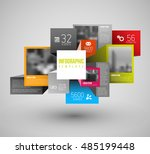 vector abstract squares and... | Shutterstock .eps vector #485199448