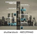 vector infographic typographic... | Shutterstock .eps vector #485199460