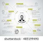 vector original minimalist cv... | Shutterstock .eps vector #485199490