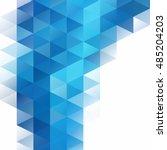 blue grid mosaic background ... | Shutterstock .eps vector #485204203