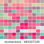 color squares in pinks and... | Shutterstock .eps vector #485207230