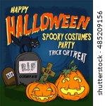 halloween poster or background | Shutterstock .eps vector #485209156