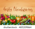 template card with photo... | Shutterstock .eps vector #485209864