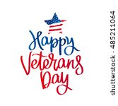 happy veterans day. the trend... | Shutterstock .eps vector #485211064
