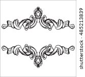 decorative elements in vintage... | Shutterstock .eps vector #485213839