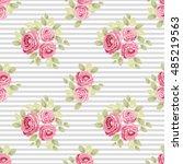 cute seamless shabby chic...   Shutterstock .eps vector #485219563