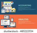 flat style business analysis... | Shutterstock .eps vector #485222554