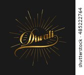 diwali. holiday vector...   Shutterstock .eps vector #485222764