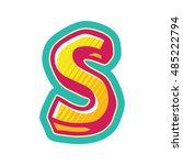 comics alphabets | Shutterstock .eps vector #485222794