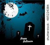 happy halloween background ... | Shutterstock .eps vector #485224384