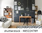 modern designed room with a... | Shutterstock . vector #485224789