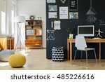modern designed  bright room... | Shutterstock . vector #485226616