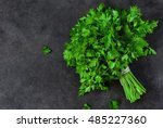 Bunch Of Parsley Isolated On A...