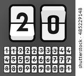 vector white flip clock  flat... | Shutterstock .eps vector #485229148