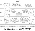 diagram of cloud types and... | Shutterstock .eps vector #485229799