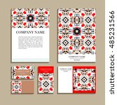 set of business cards. template ... | Shutterstock .eps vector #485231566
