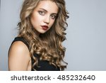 close up portrait of a... | Shutterstock . vector #485232640