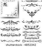 calligraphical figures created... | Shutterstock .eps vector #4852342