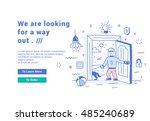 vector illustration of a modern ...   Shutterstock .eps vector #485240689