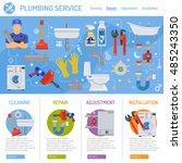plumbing service infographics...   Shutterstock .eps vector #485243350