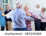 group of seniors enjoying...   Shutterstock . vector #485245684