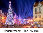 market square in colorful... | Shutterstock . vector #485247106
